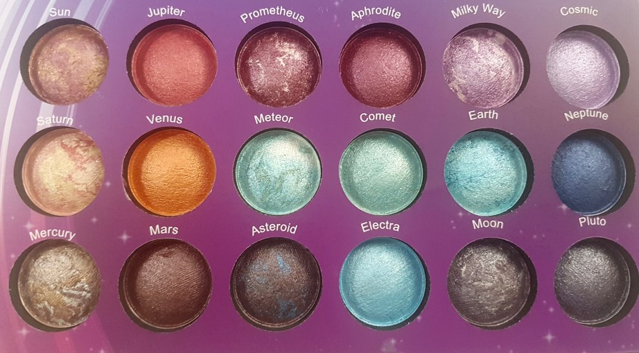 BH Cosmetics Galaxy Chic Baked Eyeshadow Palette Review Swatches