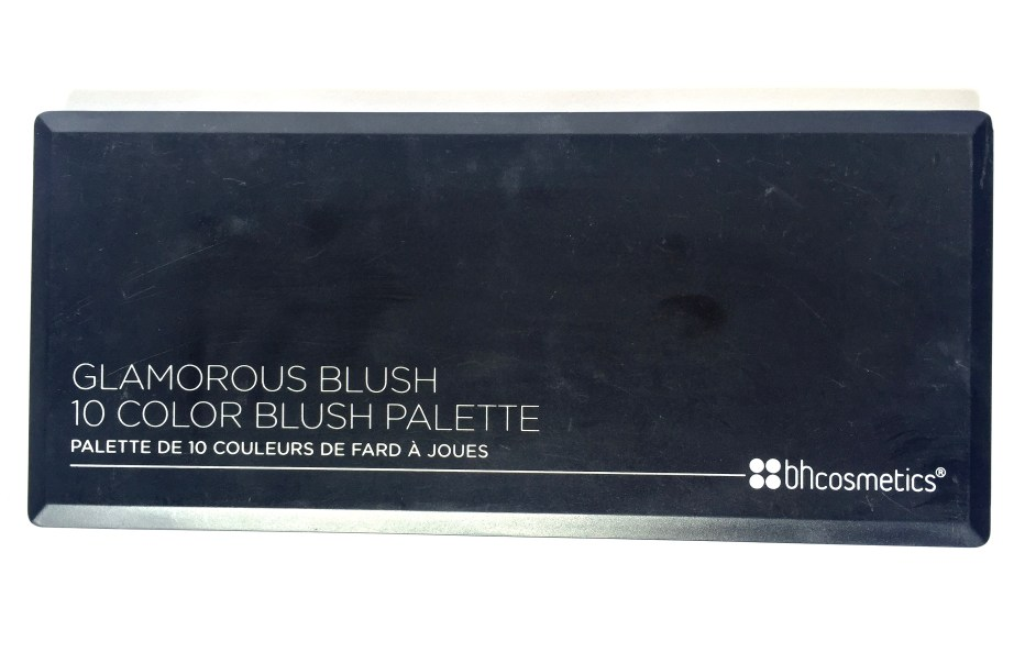 BH Cosmetics Glamorous Blush 10 Color Palette Review Swatches front