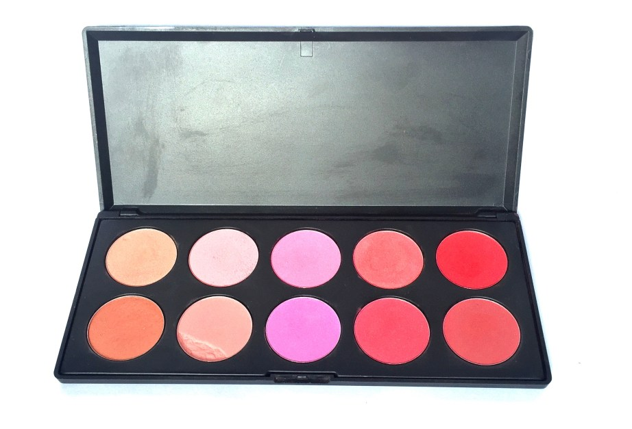 BH Cosmetics Glamorous Blush 10 Color Palette Review Swatches