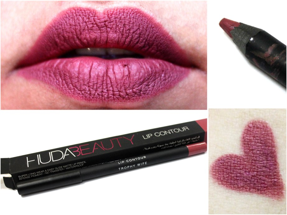 Huda Beauty Lip Contour Matte Pencil Trophy Wife Review Swatches MBF Blog