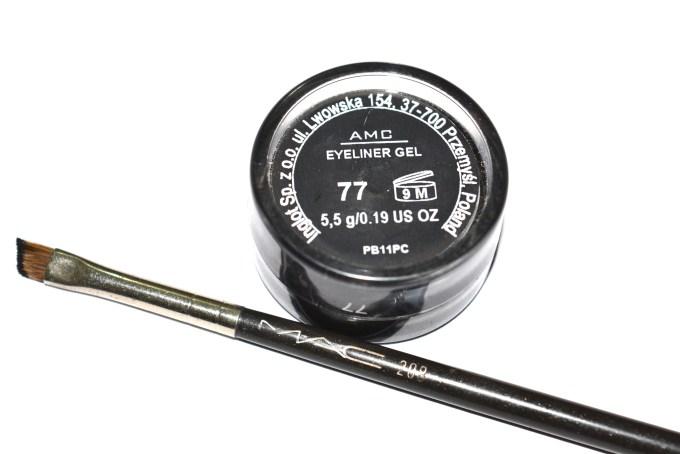 Inglot AMC Eyeliner Gel 77 Matte Black Review Swatch