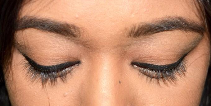 Inglot AMC Eyeliner Gel 77 Matte Black Review Swatches on Eyes MBF