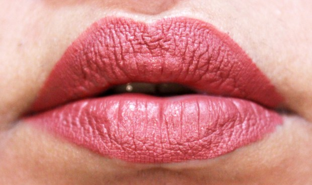 Lipland Matte Liquid Lipstick Baked by Amrezy Review Swatches Freshly Applied