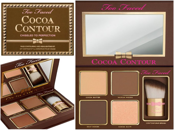Too Faced Cocoa Contour Chiseled to Perfection Palette Review Swatch