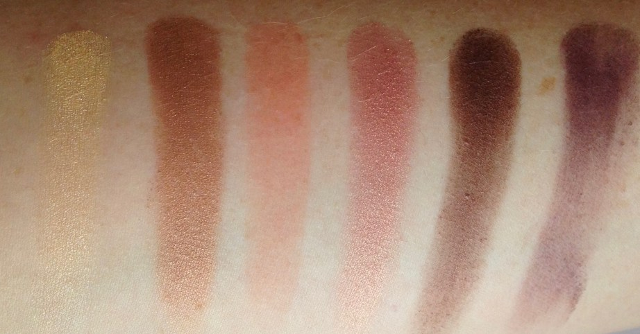 Too Faced Sweet Peach Eyeshadow Palette Review Swatches Row 2