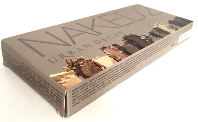 Urban Decay Naked 2 Eyeshadow Palette Review Swatches box side