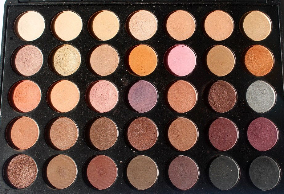 Morphe 35W 35 Color Warm Palette Review Swatches Focus
