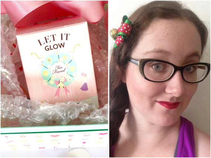 Too Faced Let It Glow Highlight and Blush Kit Review Swatches MBF Makeup Look