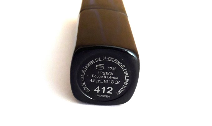 Inglot Matte Lipstick 412 Review, Swatches 2