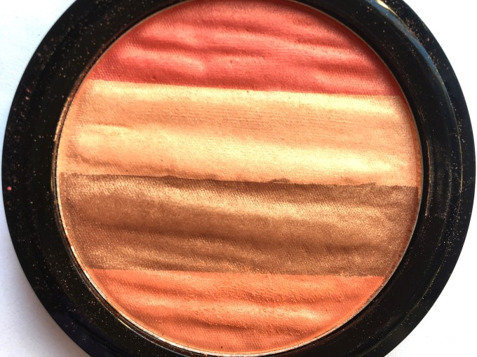 Lakme Absolute Illuminating Blush Shimmer Brick Coral Review Swatches Closeup