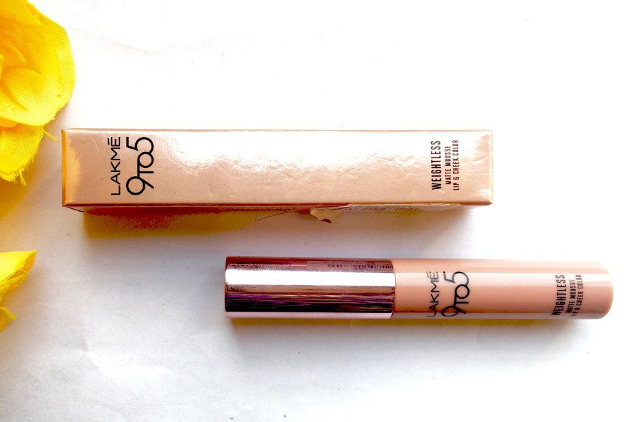 Lakme Burgundy Lush 9 to 5 Weightless Matte Mousse Lip Cheek Color Review, Swatches Blog MBF