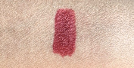Lakme Burgundy Lush 9 to 5 Weightless Matte Mousse Lip Cheek Color Review, Swatches hand