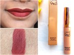 Lakme Burgundy Lush 9 to 5 Weightless Matte Mousse Lip Cheek Color Review, Swatches