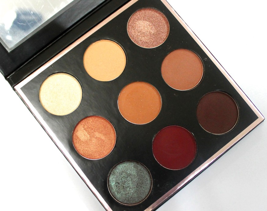 Makeup Geek Manny Mua Eyeshadow Palette Review Swatches Closeup