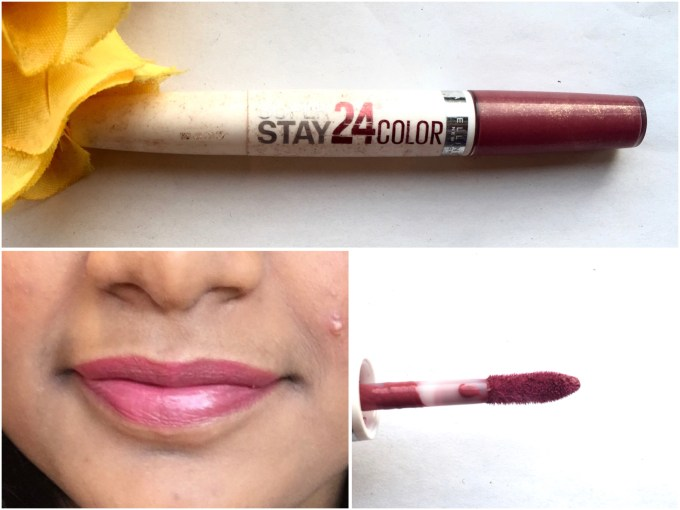 Maybelline Superstay 24 Color 2 Step Liquid Lipstick Very Cranberry 100 Review Swatches