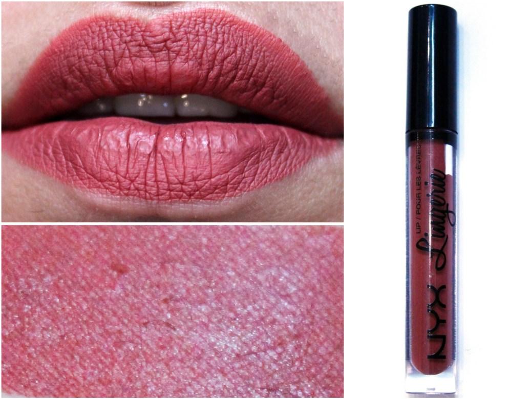 Nyx Lip Lingerie Liquid Lipstick Exotic Review Swatches