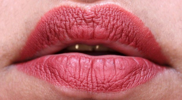 NYX Lip Lingerie Liquid Lipstick Exotic Review Swatches after 4 hours