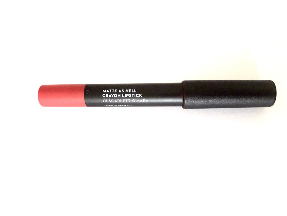 SUGAR Matte As Hell Crayon Lipstick Scarlett O'Hara Review Swatches