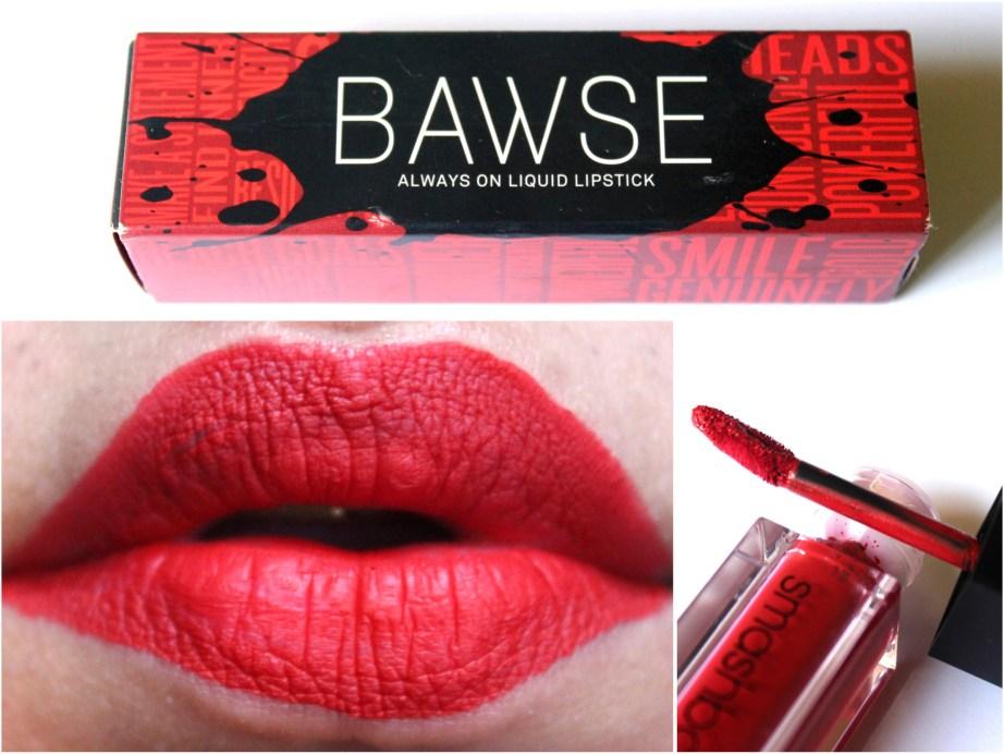 Smashbox Always On Matte Liquid Lipstick Bawse Review Swatches HD Photo