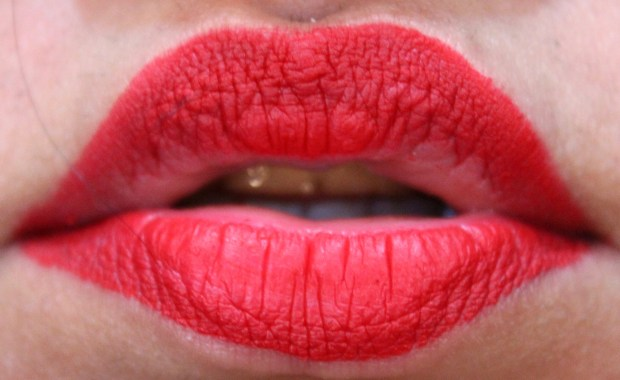 Smashbox Always On Matte Liquid Lipstick Bawse Review Swatches after 4 hours