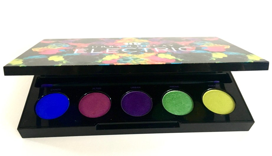 Urban Decay Electric Pressed Pigment Eyeshadow Palette Review Swatches MBF 2