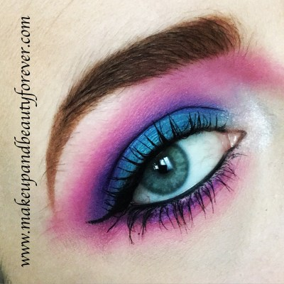 Urban Decay Electric Pressed Pigment Eyeshadow Palette Review Swatches MBF Blog Eye Makeup Look