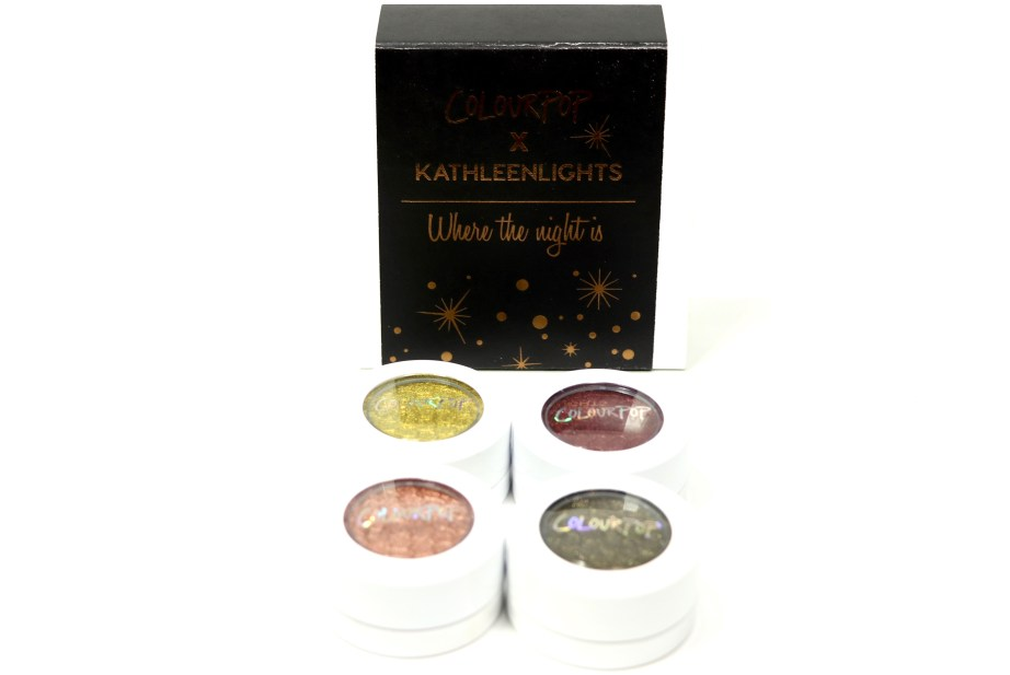 ColourPop KathleenLights Where The Night Is Super Shock Shadow Set Review, Swatches 3