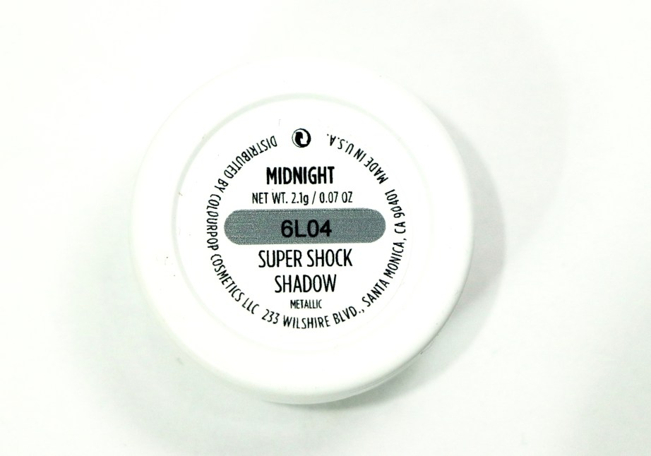 ColourPop Midnight Super Shock Eye Shadow Review, Swatches 1