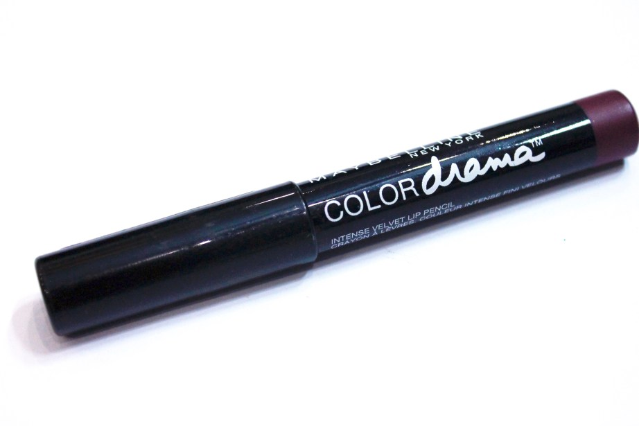 Maybelline Color Drama Intense Velvet Lip Pencil Berry Much Review, Swatches 1