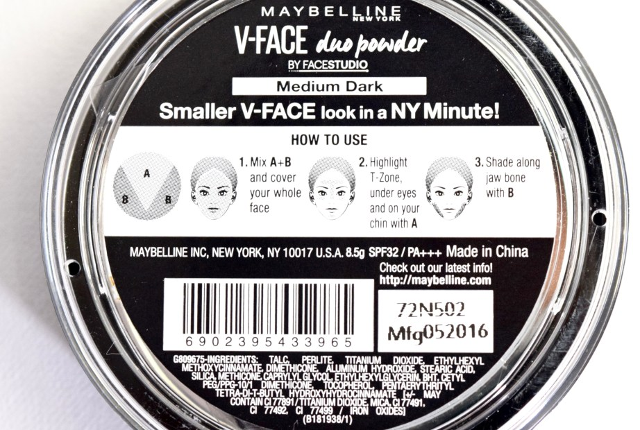 Maybelline V Face Duo Powder Review, Swatches Ingredients