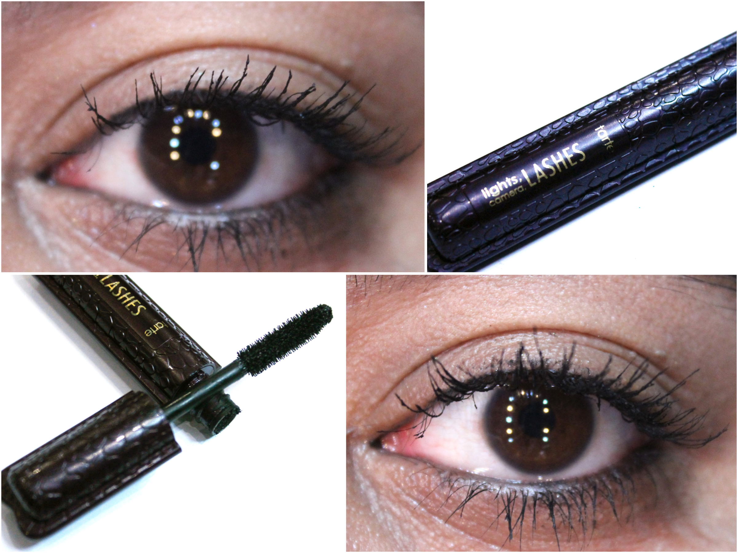 Tarte Lights, Camera, Lashes 4 In 1 Mascara Review, Swatches,