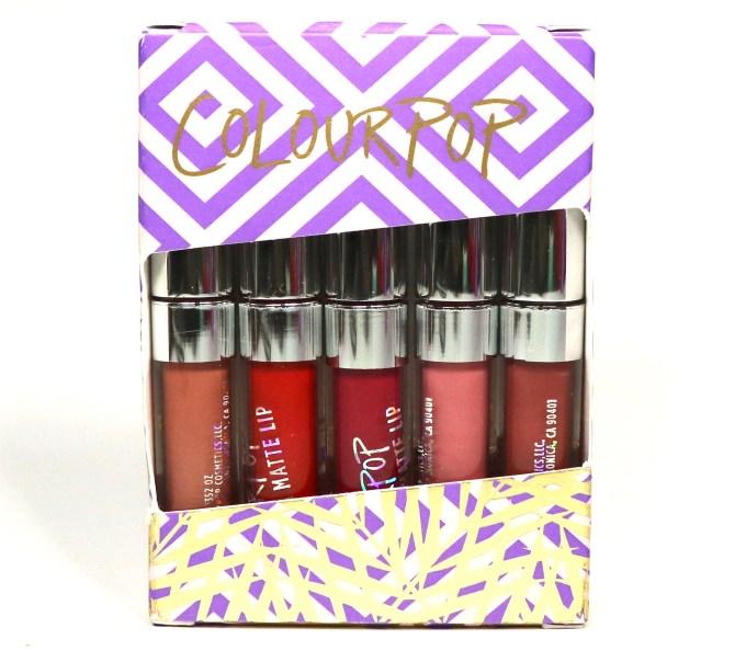 ColourPop Foxy Ultra Matte Lipstick Kit Review, Swatches
