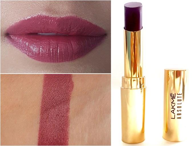 Lakme Absolute Argan Oil Lip Color Juicy Plum Review, Swatches