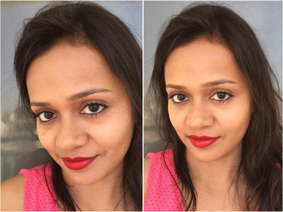 Maybelline Superstay 24 Color 2 Step Lipstick Keep It Red 035 Review, Swatches MBF Blog Makeup Look