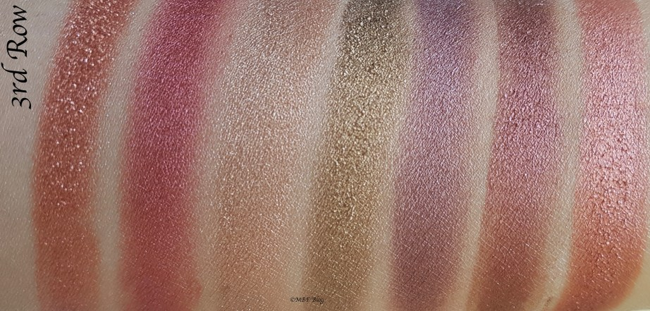 Morphe 35F Fall Into Frost Palette Review, Swatches 3rd Row