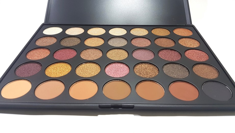 Morphe 35F Fall Into Frost Palette Review, Swatches front HD