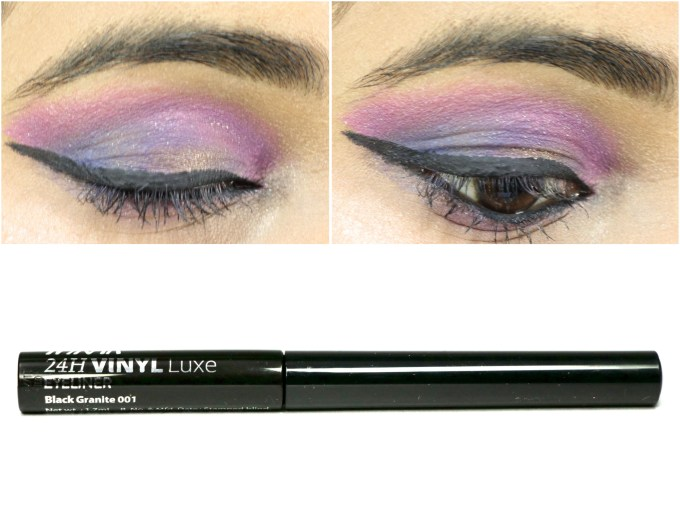 Nykaa 24Hrs Vinyl Luxe Eyeliner Black Granite Review, Swatches MBF Indian Makeup Beauty Blog