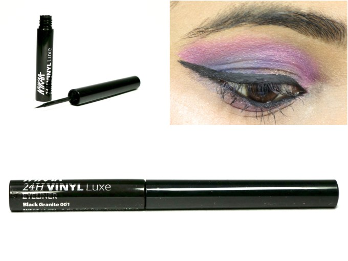 Nykaa 24Hrs Vinyl Luxe Eyeliner Black Granite Review, Swatches