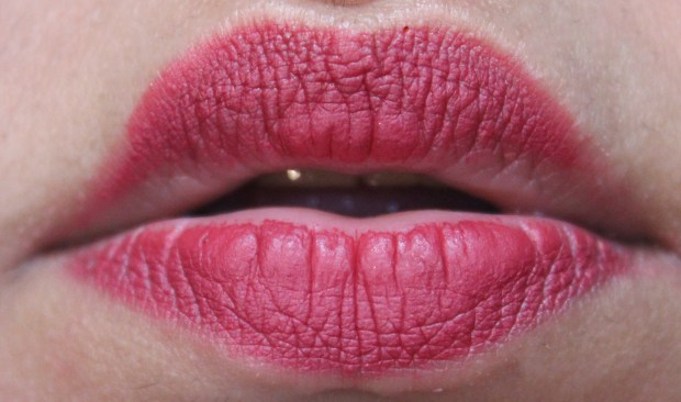 OFRA Long Lasting Liquid Lipstick Santa Ana Review, Swatches After 6 to 7 hours