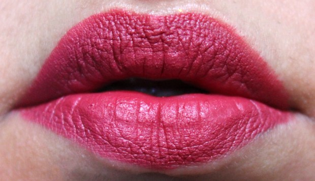 OFRA Long Lasting Liquid Lipstick Santa Ana Review, Swatches Fresh Applied