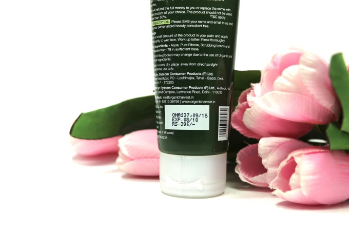 Organic Harvest 3 In 1 Face Wash Review, Swatches Price