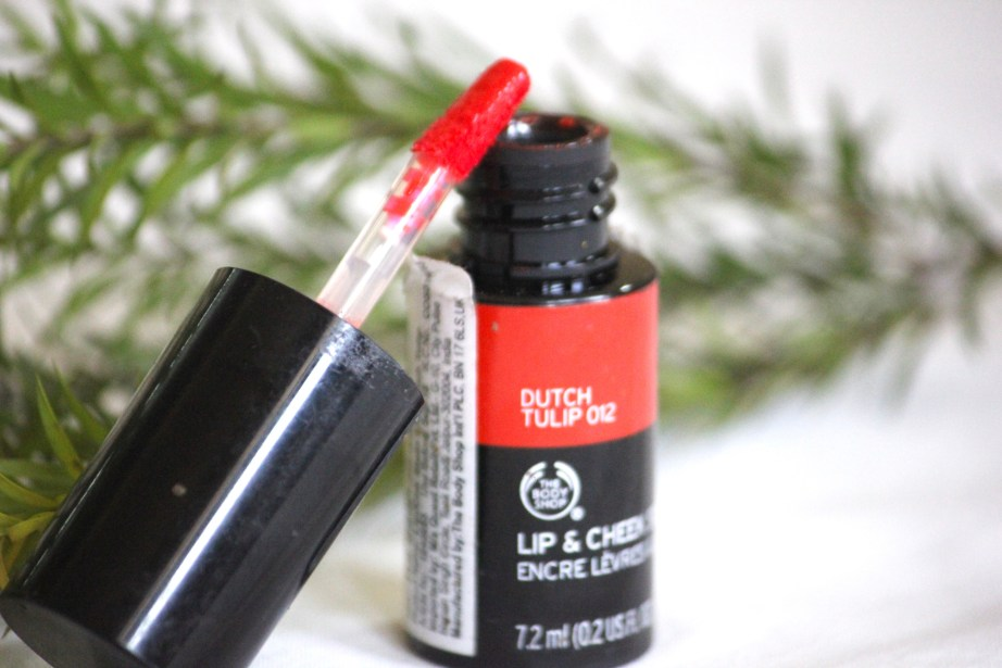 The Body Shop Lip and Cheek Stain Dutch Tulip 012 Review, Swatches MBF Beauty Blog