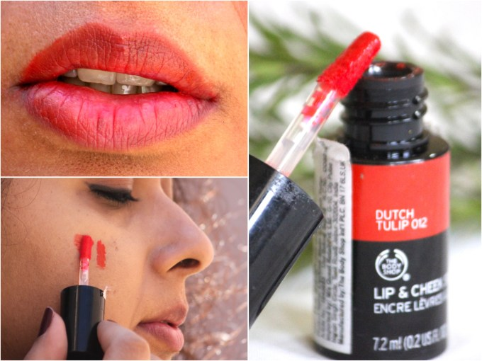 The Body Shop Lip and Cheek Stain Dutch Tulip 012 Review, Swatches