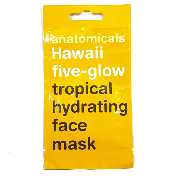 Anatomicals Hawaii Five Glow Tropical Hydrating Face Mask Review