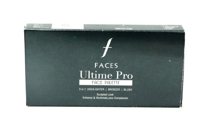 FACES Ultime Pro Face Palette Fresh Review, Swatches box