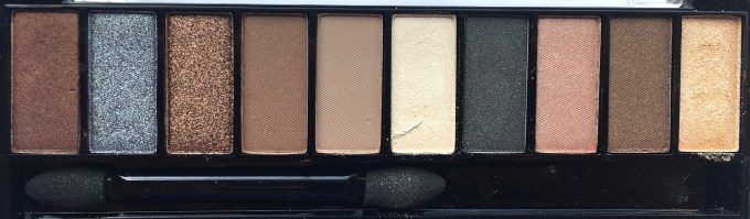 Faces Ultime Pro Eyeshadow Palette Nude Review, Swatches Closeup