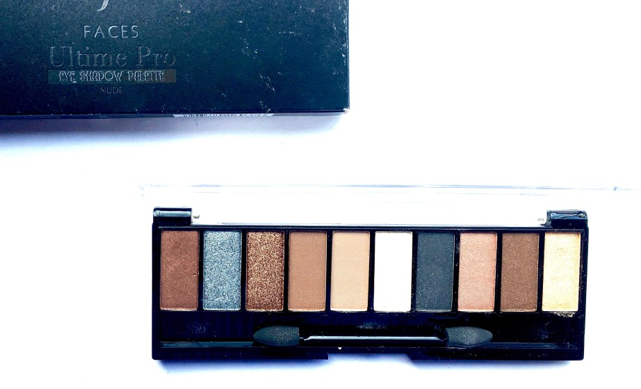 Faces Ultime Pro Eyeshadow Palette Nude Review, Swatches blog MBF