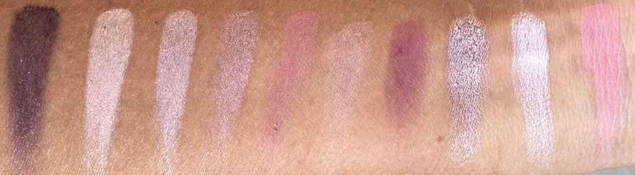 Faces Ultime Pro Eyeshadow Palette Rose Review, Swatches Bright Light