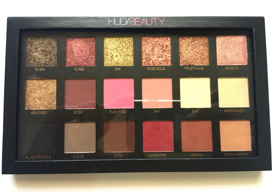 Huda Beauty Rose Gold Textured Shadows Palette Review, Swatches MBF Blog