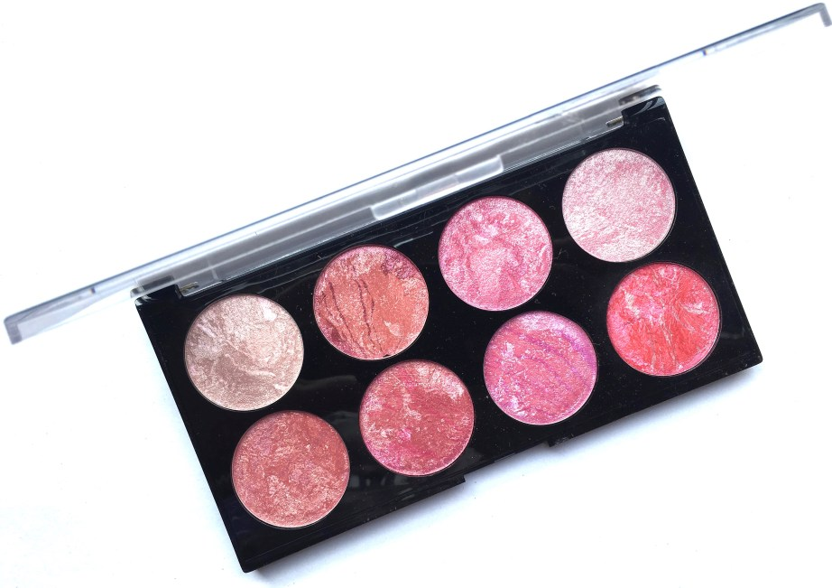 Makeup Revolution Blush Palette Blush Queen Review, Swatches MBF